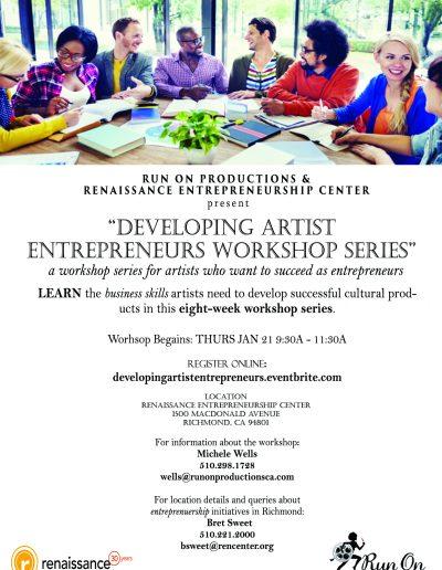 Developing Artist Entrepreneurs Workshop Series